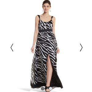 WHBM zebra maxi dress